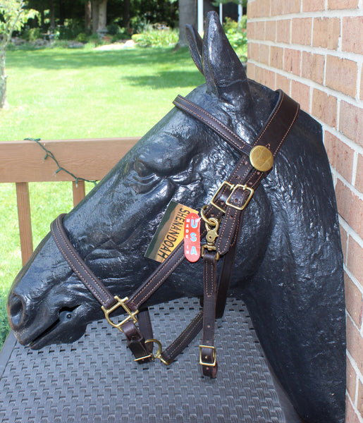 Shenandoah Leather Halter Bridle Combo Horse