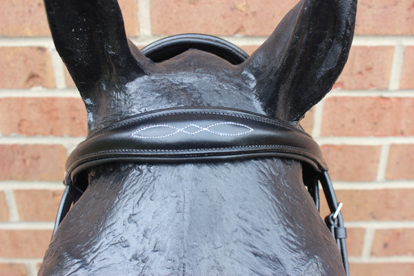 Black Leather Jump Off Bridle-Draft Size