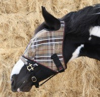 Draft Horse Fly Mask with Webbing Trim - Sterling Steed Enterprises