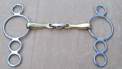 Draft Horse Continental Gag Bit Copper Mouth with Oval Link. - Sterling Steed Enterprises - 1