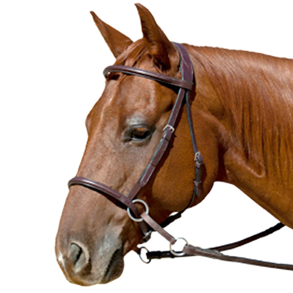 Nurtural Horse Harmonie Leather English Bitless Bridle BRN-WB