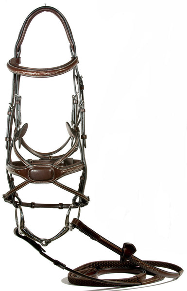 "Figure 8 Bridle ""Arianna""by Nunn Finer, Cob, Horse - Sterling Steed Enterprises"