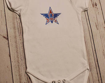 American Star and Eagle- Baby Onesie or T-Shirt
