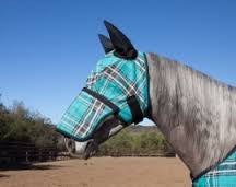 Draft Horse Fly Mask with Soft Ears and Removable Nose Piece - Sterling Steed Enterprises