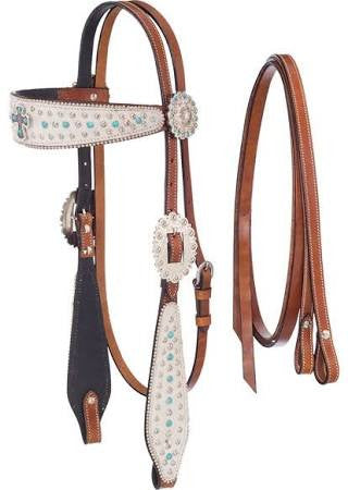 Pistol Annie-Headstall with Reins - Sterling Steed Enterprises