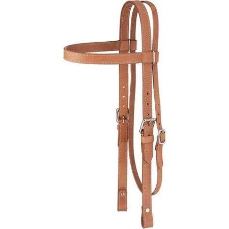 Large Draft Horse Western Leather Browband Headstall- Tough 1 - Sterling Steed Enterprises