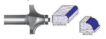Whiteside Roundover & Beading with Ball Bearing Guide Router Bits