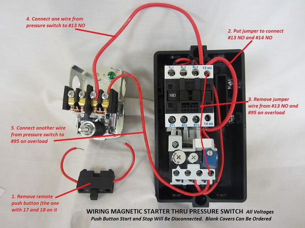 magnetic motor starter single phase or 3 phase 208