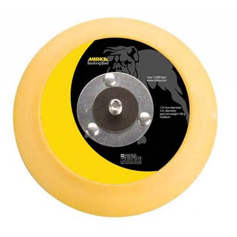 "Mirka 5"" Vinyl Faced Backup Pad - Flex Edge"