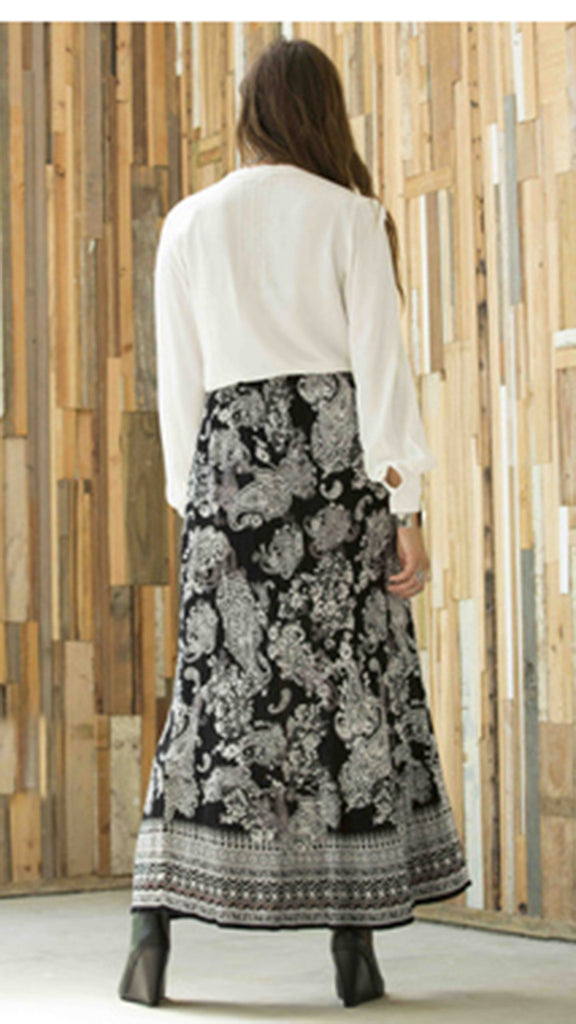 Patrons of Peace Button Down Maxi Skirt