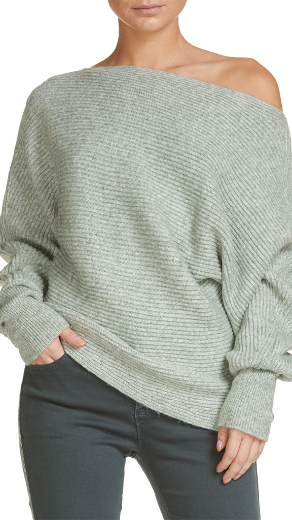 Elan Dolman Off-The-Shoulder Sweater