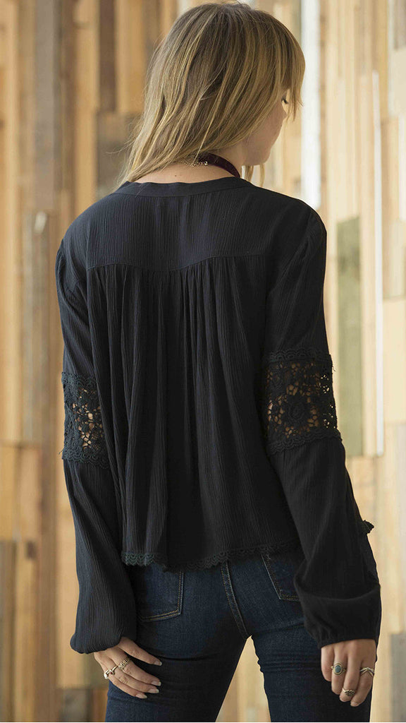 Patrons of Peace Lace up Blouse