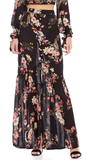 Patrons of Peace Floral Button Down  Maxi Skirt