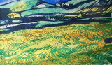 Blue Pacific Van Gogh Silk and Cashmere Scarf