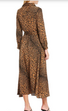 Elan Leopard Button Front Maxi Dress