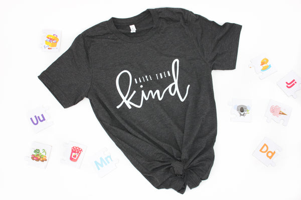 """Raise Them Kind"" Charcoal-Black Tri-Blend"