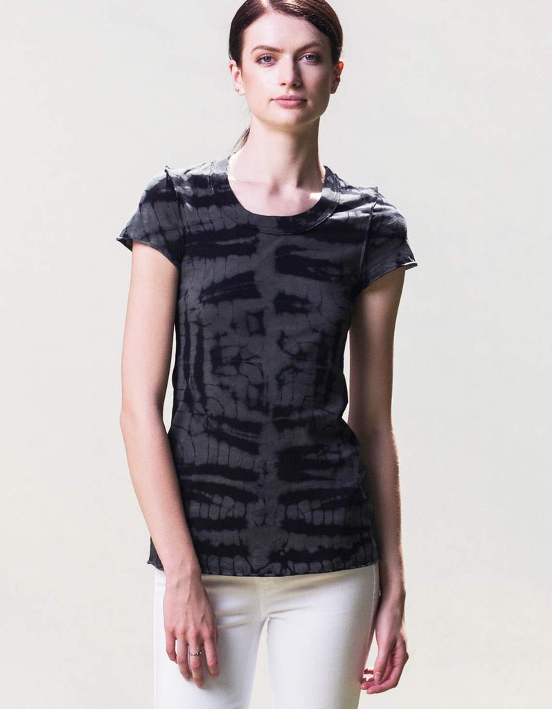 Organic cotton made in the USA T-shirt. Eco-fashion.