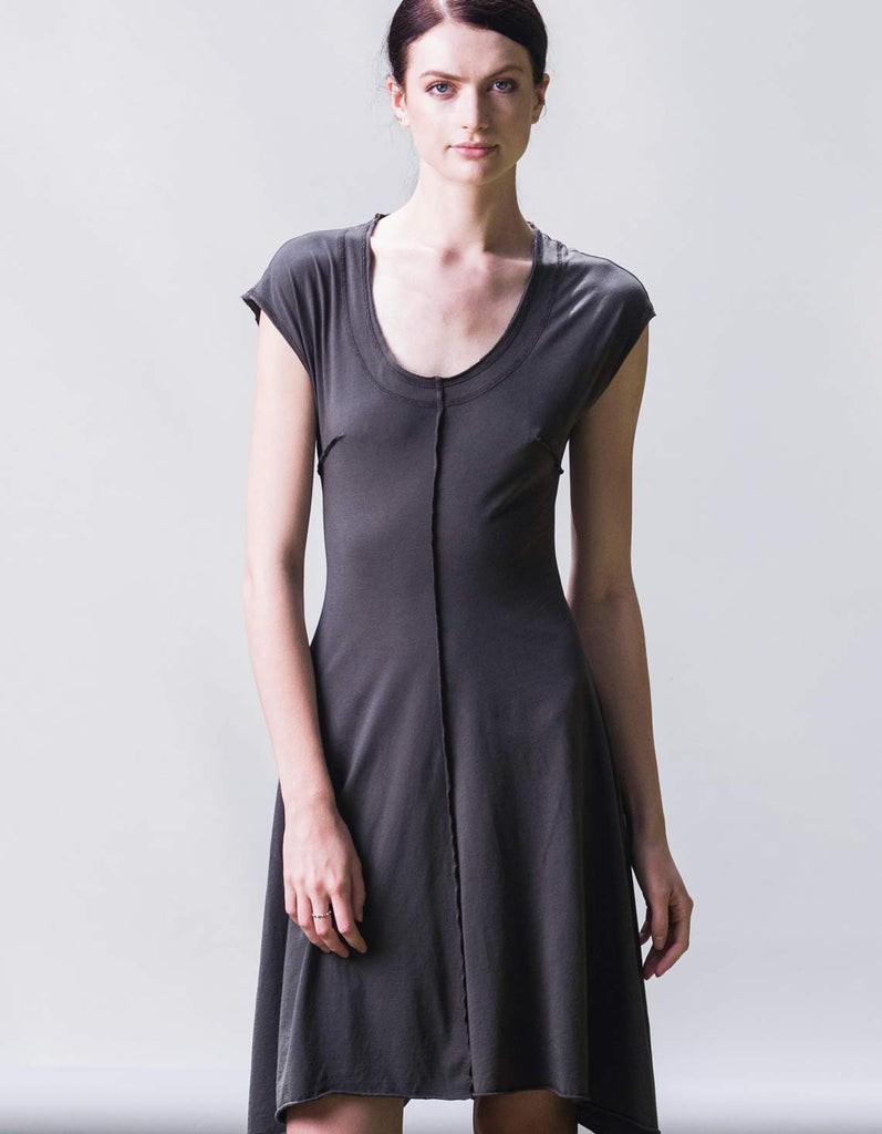 Organic cotton dress made in Los Angeles by Raw Earth Wild Sky
