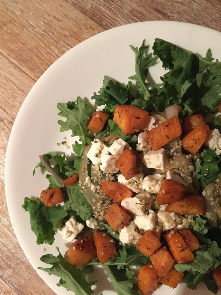 hemp hear and sweet potato salad