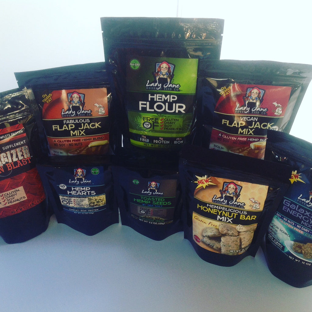 a variety of hemp based products