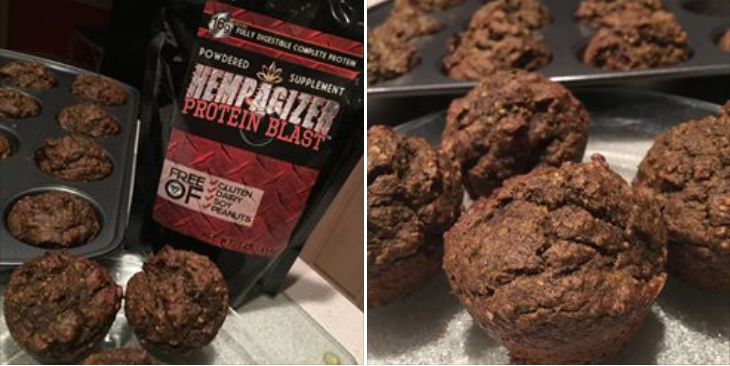 pumpkin spiced muffins with hempagizer