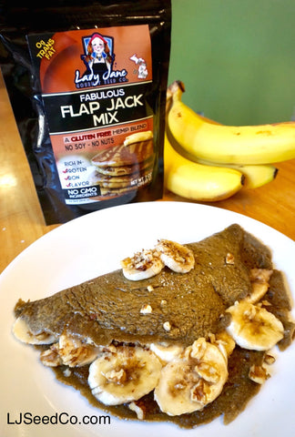 Crepe Stuffed Pancakes made with Lady Jane fabulous flap jack mix