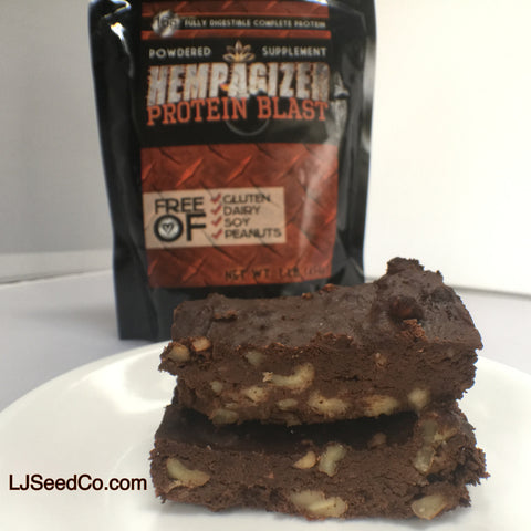 chocolate brownie with hempagizer protein powder