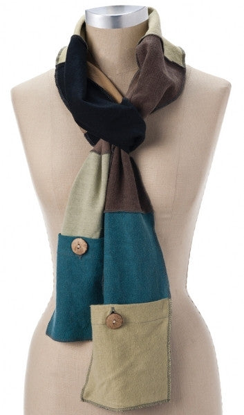 Hemp Multi-Color Pocket Scarf-Hemp Fiber Fashions-cousinmaryjane-Lady Jane Gourmet Seed Company