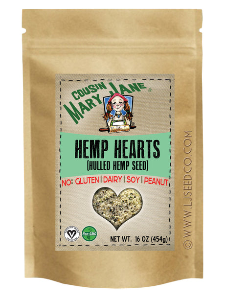 1lb CMJ HEMP HEARTS | RAW HULLED HEMP SEEDS-Hemp Food Products-cousinmaryjane-Lady Jane Gourmet Seed Company