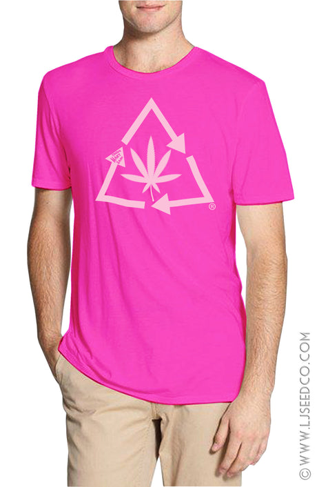 Recycle Hemp Leaf T-Shirt-Hemp Fiber Fashions-cousinmaryjane-Lady Jane Gourmet Seed Company