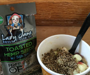 (GB x 15) TOASTED HEMP SEEDS w/ SEA SALT | 15 COUNT - GRAB BAGS-Hemp Food Products-ladyjaneseedco-Lady Jane Gourmet Seed Company