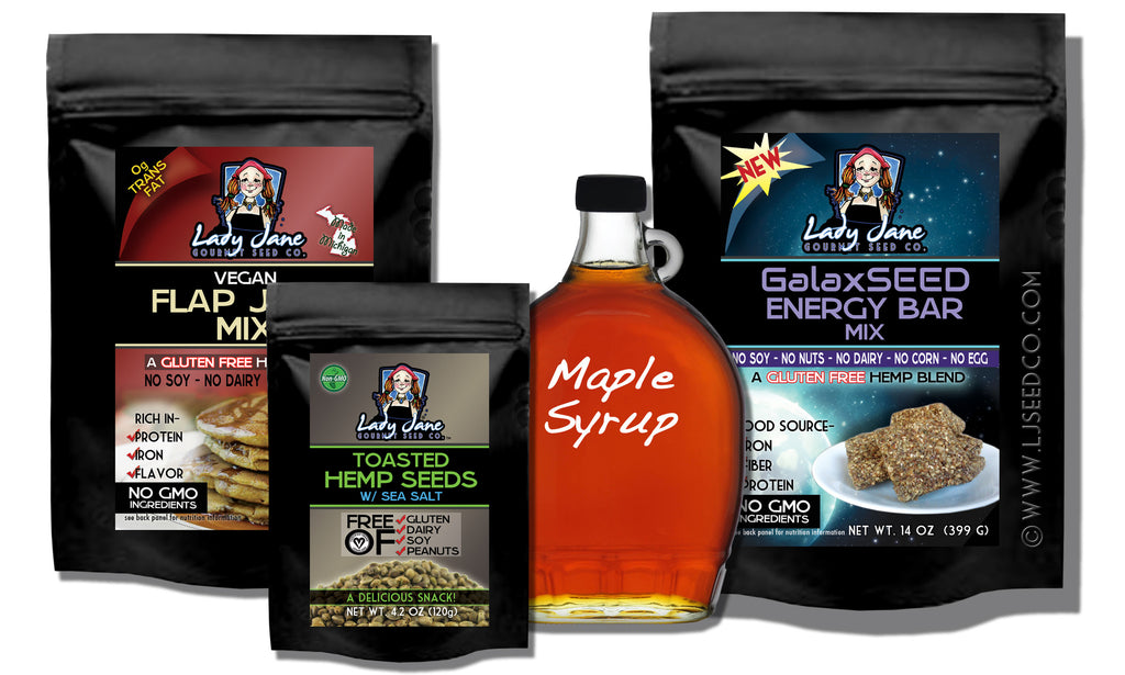 Vegan Set 45-Hemp Food Products-ladyjaneseedco-Lady Jane Gourmet Seed Company
