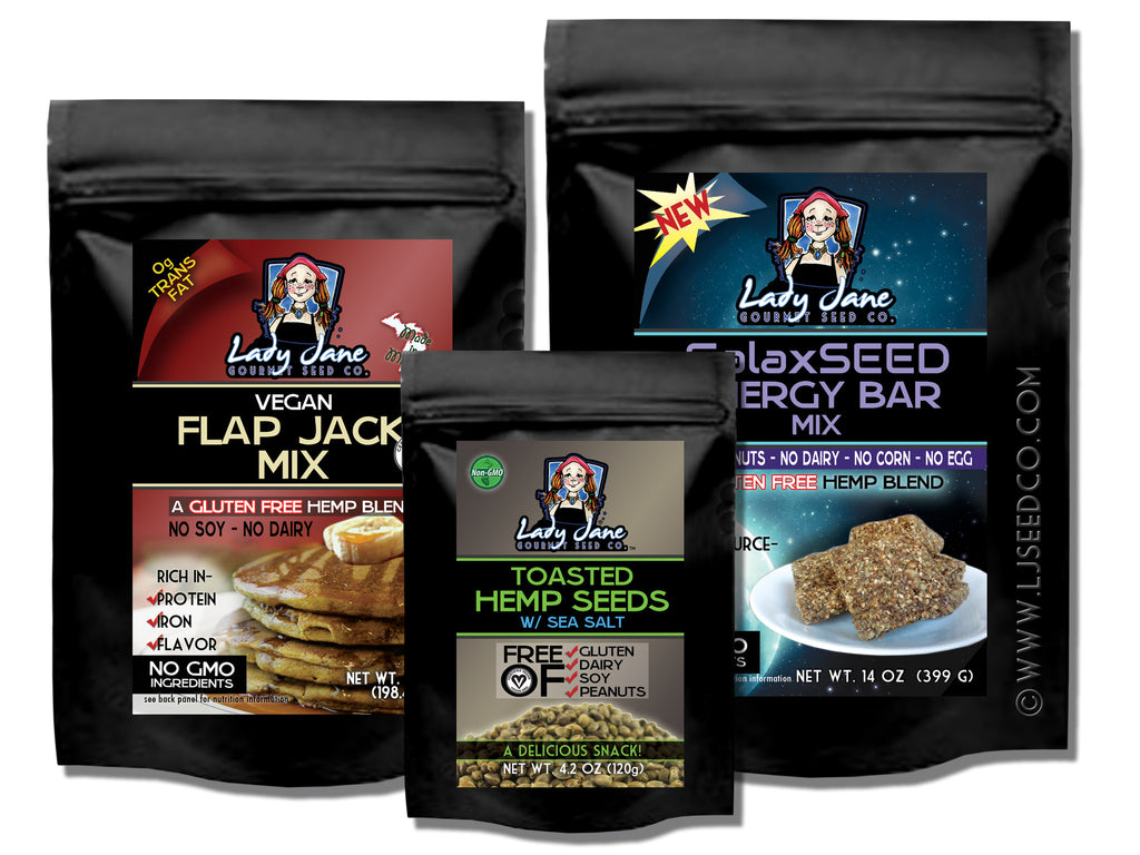 Vegan SET 32-Hemp Food Products-ladyjaneseedco-Lady Jane Gourmet Seed Company