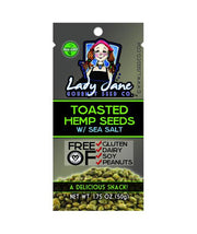 (GBx36) TOASTED HEMP SEEDS w/ SEA SALT | 36 COUNT - GRAB BAGS-Hemp Food Products-ladyjaneseedco-Lady Jane Gourmet Seed Company