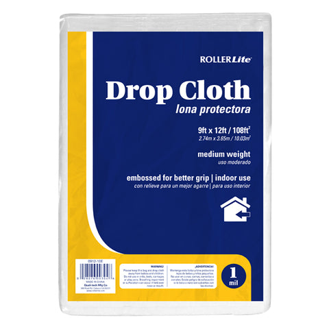 Drop Cloth - Embossed (1 Mil - 9ft x 12ft / 108ft²)