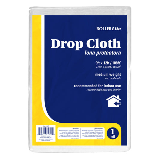 Drop Cloth (1 Mil - 9ft x 12ft / 108ft²)