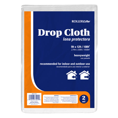 Drop Cloth - (2 Mil - 9ft x 12ft / 108ft²)
