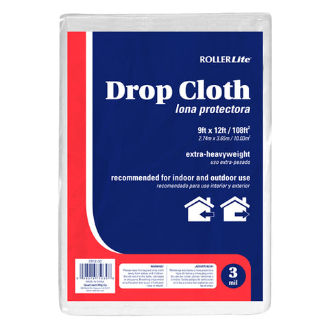 Drop Cloth - (3 Mil - 9ft x 12ft / 108ft²)