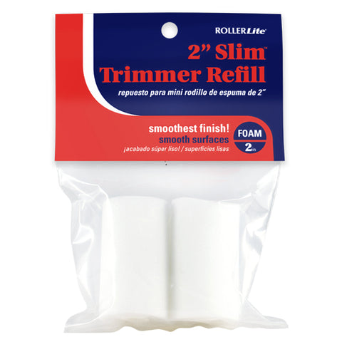 "Slim Trimmer Refill™ - 2"" - Mini Roller Refills - (2-Pack) - High Density Foam"