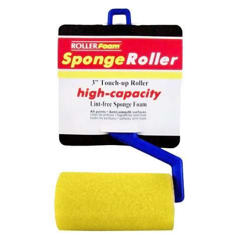 "High-Capacity Foam™ - 3"" x 3/8"" - Mini Roller Assembly - Yellow Foam"