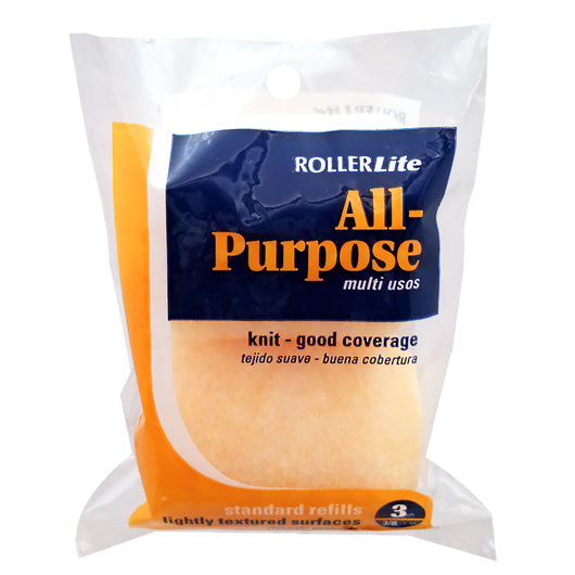 "All Purpose™ - 3"" x 3/8"" - Trim Roller Cover - 100% Polyester Knit (2-Pack)"