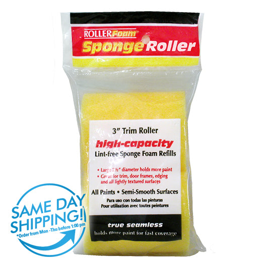 "3"" High-Capacity Foam Standard Trim Roller Cover (2-Pack)"