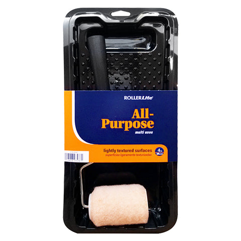 "All Purpose™ - 4"" x 3/8"" - Trim Roller Kit - 100% Polyester Knit - 3 Pc"