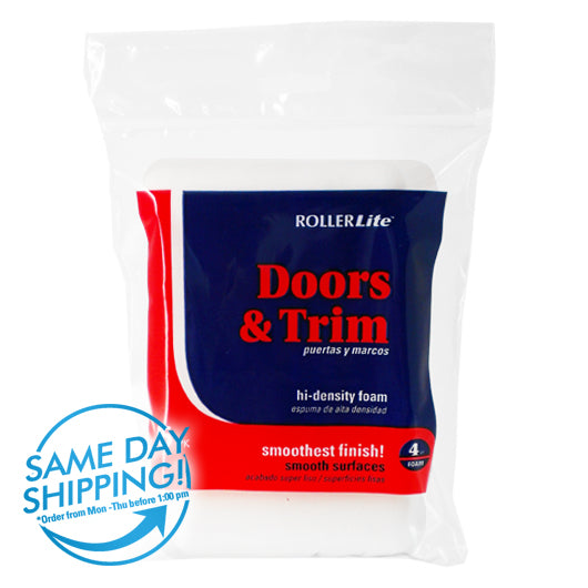 "Doors & Trim™ - 4"" - Mini Roller Refills - (5-Pack) - High Density Foam"
