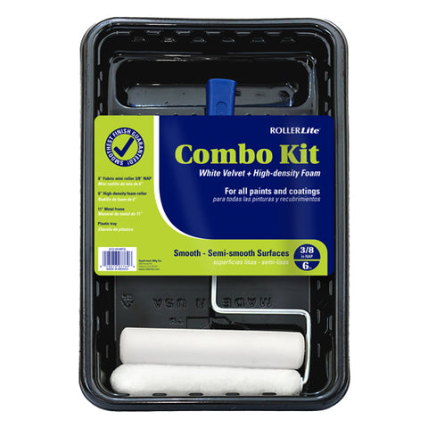"Combo Kit - White Velvet™+ Doors & Trim™ - 6"" x 3/8"" - (Woven Dralon®+ High Density Foam™) - 4 Pc"