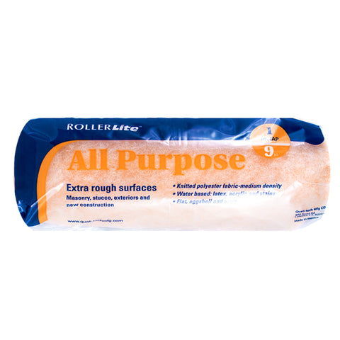 "All Purpose™ - 9"" x 1"" - Standard Roller Cover - 100% Polyester Knit"