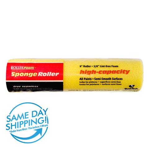"High-Capacity Foam™ - 9"" x 3/8"" - Standard Roller Cover - Yellow Foam"