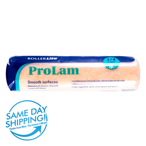 "ProLam™ - 9"" x 1/4"" - Standard Roller Cover - Lambswool, Polyester and Acrylic Blend"