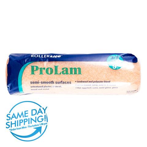 "ProLam™ - 9"" x 3/8"" - Standard Roller Cover - Lambswool, Polyester and Acrylic Blend"