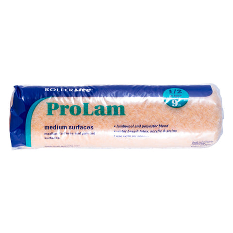 "ProLam™ - 9"" x 1/2"" - Standard Roller Cover - Lambswool, Polyester and Acrylic Blend"
